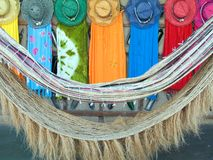 Dress, hat and nets to sale. Colored dresses, hats and nets to sale in the summer - Brazil Stock Photography