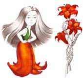 Dress like flower Stock Photo