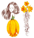 Dress like flower Stock Photography