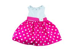 Dress for little girl with glitter stones royalty free stock images