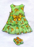 Dress for little girl - pencil sketch Royalty Free Stock Photography