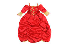 Dress little princess. Clothes for a party isolated on white. Background Royalty Free Stock Photography
