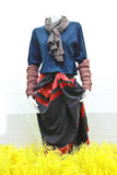 The dress of local people on northern of Thailand Stock Image