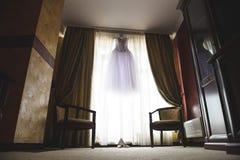 Dress at Luxury Room Stock Photo