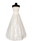 Dress on a mannequin. On a white background Royalty Free Stock Image