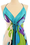 Dress on Mannequin. Contemporary evening dress on a Mannequin as it would displayed in a shop royalty free stock images