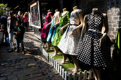 Dress mannequins at Camden market Royalty Free Stock Photography