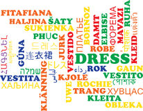 Dress multilanguage wordcloud background concept Royalty Free Stock Photography