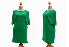 Dress oversize woman on a white background.  Royalty Free Stock Photos