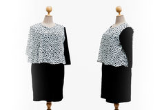 Dress oversize woman on a white background.  Royalty Free Stock Photography