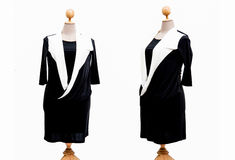 Dress oversize woman on a white background.  Royalty Free Stock Images