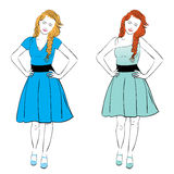 Dress for Pear Body Type Stock Photo