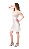 dress pensive silver woman Στοκ Εικόνες