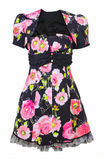 Dress with pink roses Royalty Free Stock Photo