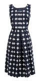 Dress with polka dots Stock Photography