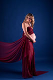 dress pregnant red woman Στοκ Εικόνα