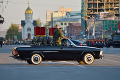 Dress rehearsal of the military parade in honor of Victory Day. Stock Image