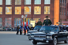 Dress rehearsal of the military parade in honor of Victory Day. Royalty Free Stock Image