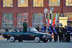 Dress rehearsal of the military parade in honor of Victory Day. Stock Photography