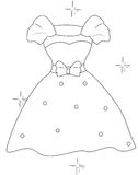 Dress with a ribbon coloring page Stock Photos