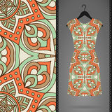 Dress with seamless pattern Royalty Free Stock Image