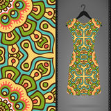 Dress with seamless pattern Royalty Free Stock Photography