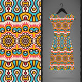 Dress with seamless pattern Royalty Free Stock Photos