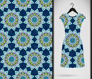Dress with seamless pattern Stock Image