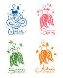 Dress - seasons collection Royalty Free Stock Photography