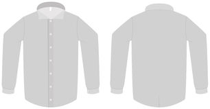 Dress shirt or blouse template vector illustration Royalty Free Stock Photo
