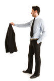 Dress shirt kept in hand Royalty Free Stock Image