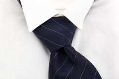 Dress shirt and nectie detail. Stock Image