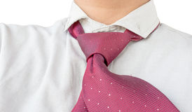 Dress shirt with red tie Royalty Free Stock Images