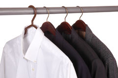 Dress Shirt and Three Jackets Stock Image