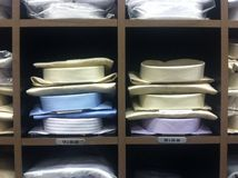 Dress shirts in mens store Stock Photo