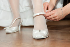 Dress shoes for the bride Royalty Free Stock Photo