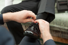 Dress shoes to suit Stock Images
