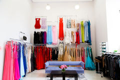 Dress shop Royalty Free Stock Images