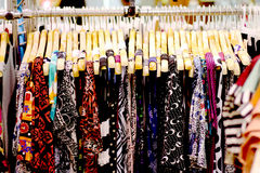 Dress shop for working woman. On street market holiday Royalty Free Stock Photos