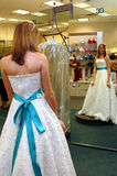 Dress shopping Stock Photo