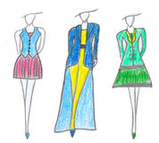 Dress sketch. Business fashion style. Royalty Free Stock Images