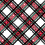 Dress stewart tartan seamless pattern diagonal fabric texture Royalty Free Stock Photos