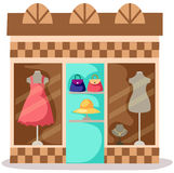 Dress store Royalty Free Stock Image