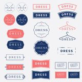 Dress studio. Tailor logo. A set of logos for a tailor or couture. Dress studio emblems. Tailor logos. A set of logos for a tailor or couture. Monochrome option Royalty Free Stock Image
