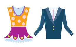 Dress and suit Royalty Free Stock Images