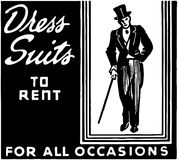 Dress Suits To Rent Royalty Free Stock Images