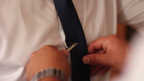 Dress tie clips stock video