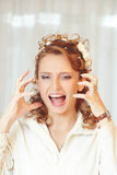 Angry bride Royalty Free Stock Photography