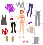 Dress-up doll Stock Images