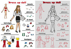 Dress up doll Royalty Free Stock Photo